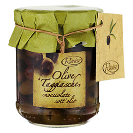 Ranise, Olive Taggiasche, snocciolate in Olio extra vergine di oliva