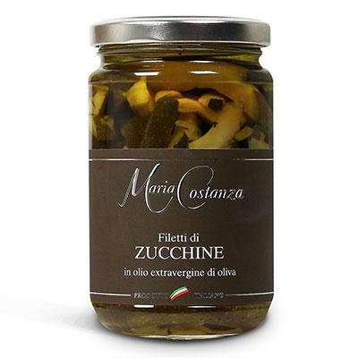 Maria Costanza, Zucchine sott' Olio Extra Vergine d' Oliva