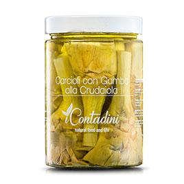 I Contadini, Carciofi con Gambo  alla crudaiola in olio EVO