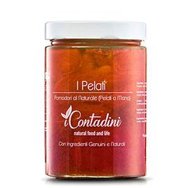 "I Contadini, ""I Pelati "" pomodori lunghi al naturale"
