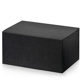 6er Weinbox schwarz  380 mm