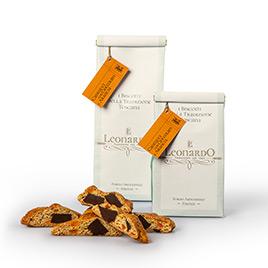 Leonardo, Cantucci con Scatola Cioccolato e Arance