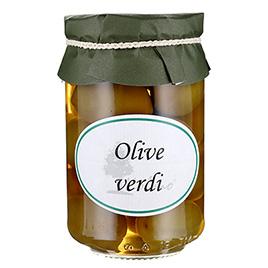 Olmo, Olive verdi giganti, salamoia
